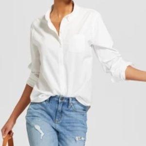 Women's Long Sleeve Half Button-Down Shirt -